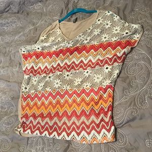 Beautiful Knit front top for layering